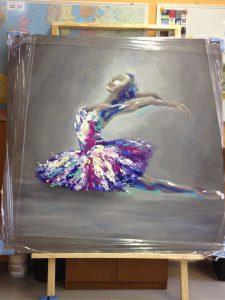 Odette: Soul, Series of Odette, oil on canvas, 160x160cm