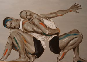 Out of, Series of Dancers, acrylic on canvas 2012