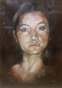 Stubbord, oil on canvas 2019