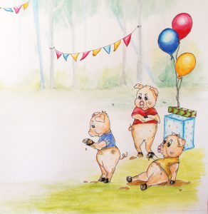 Three pigs, terapeutic children's stories
